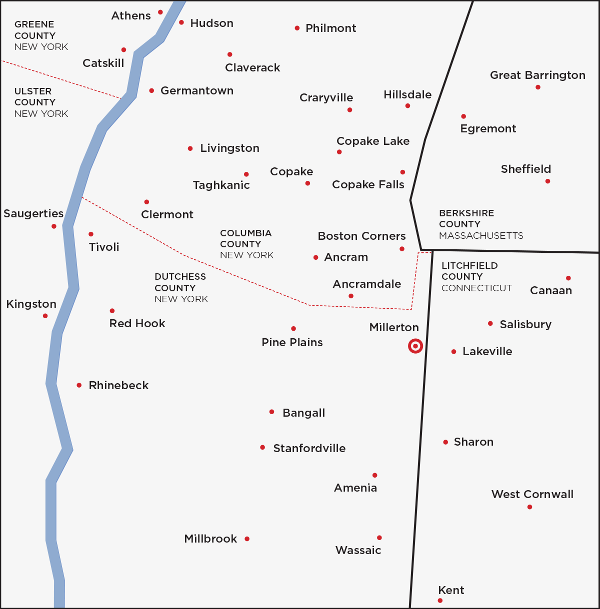 Main Street Magazine's Distribution Map